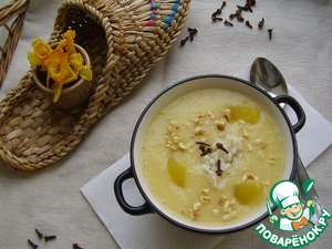 Рецепт Постный суп из персиков с рисом