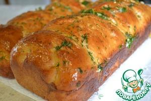 Рецепт Ароматная булка под чесночным соусом
