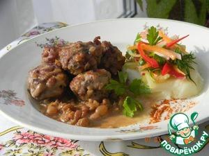 Рецепт Фрикадельки из говядины с весенним салатом