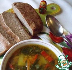 Рецепт Легкий мясной супчик из шпината и болгарского перца