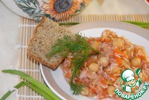 Рис с нутом и овощами домашний пошаговый рецепт приготовления с фотографиями готовим