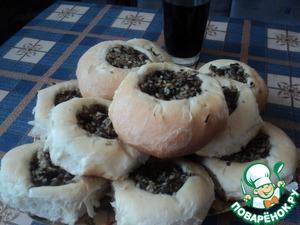 Рецепт Ватрушки с рисом и грибами