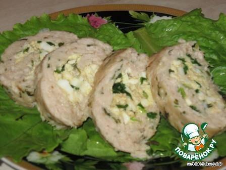 мясной рулет с луком и яйцом фото рецепт #10
