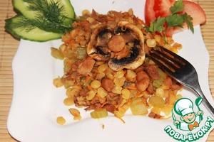 Рецепт Гороховое рагу с лисичками
