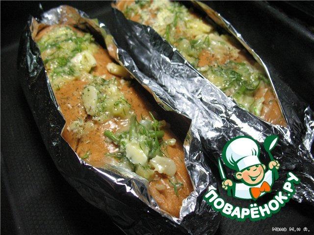 Хрустящий батон, запеченный с чесноком и сыром вкусный пошаговый рецепт с фото #8