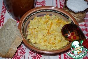 Рецепт Каша пшенная с квашеной капустой