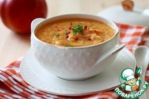Рецепт Тыквенно-морковный суп с яблоком и чечевицей