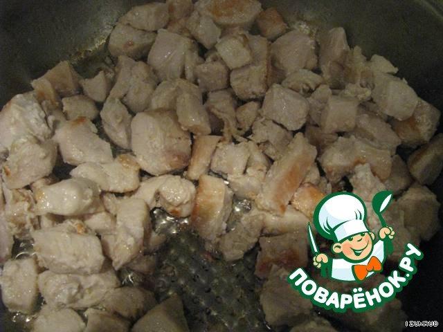 курица с креветками рецепт