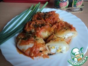 Рецепт Голубцы из китайской капусты под овощным кисло-сладким маринадом
