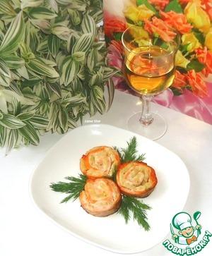 """Рецепт Форель, запеченная с ананасами """"Розы"""""""