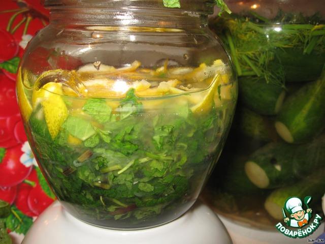 лимонно-мятная водка рецепт