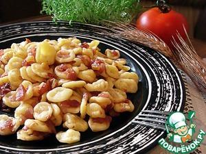 Рецепт Домашние орекьетте с соусом из красного лука