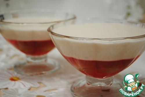 Творожно-клубничный десерт