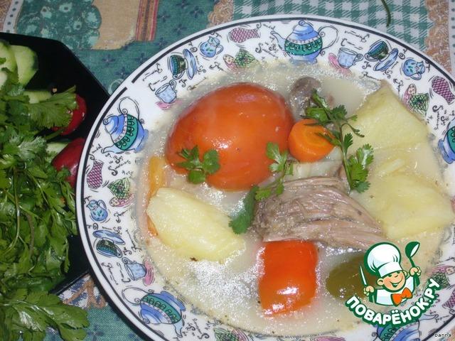 Хашлама картофелем рецепт фото
