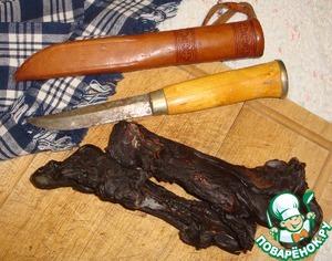 Рецепт Вяленая оленина (сердце) по-лапландски