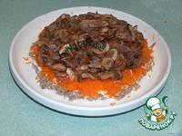 Слоеный салат из печени ингредиенты