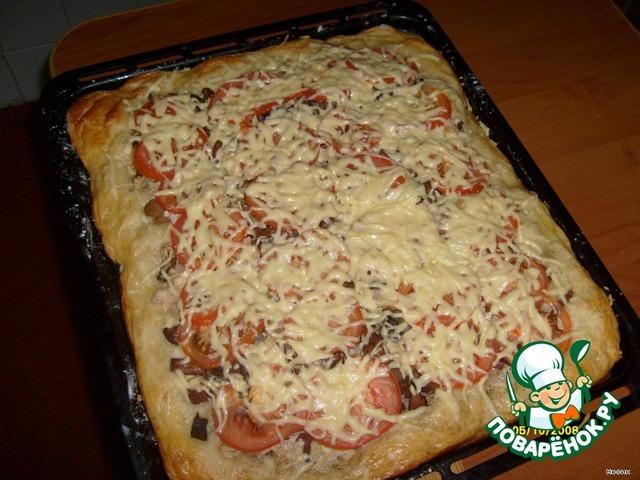 Пицца из дрожжевого теста — классический рецепт ...