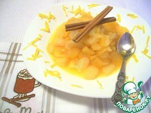 Рецепт Яблочно-грушевое компоте с апельсинами