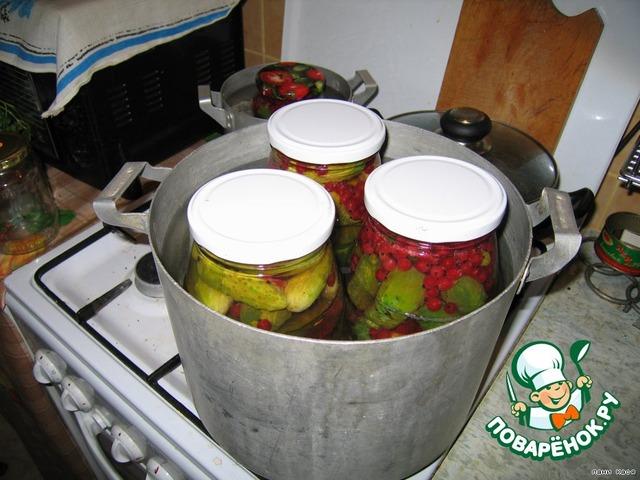 Как готовить Огурчики с красной смородиной домашний рецепт с фото пошагово #3