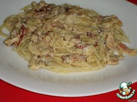 Спагетти с шампиньонами и вялеными помидорами ингредиенты