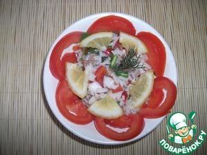 Рецепт Рыбный салат по-индийски
