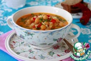 Рецепт Острый кокосовый суп с нутом, рисом и карри