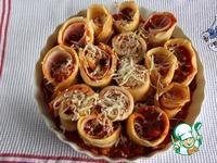 Запечённый пицца-торт из блинчиков ингредиенты