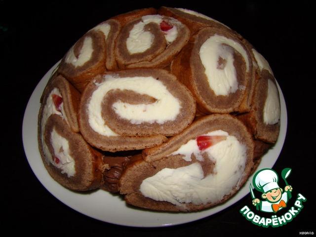 заливной торт с клубникой рецепт