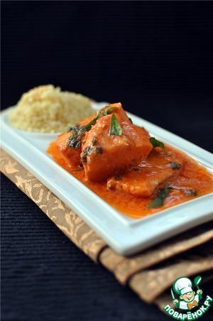 Рецепт Лосось в томатно-сливочном соусе