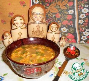 Рецепт Суп с грибами, фасолью и орехами