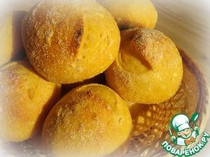 Рецепт Тыквенные булочки с семолиной и цельнозерновыми хлопьями
