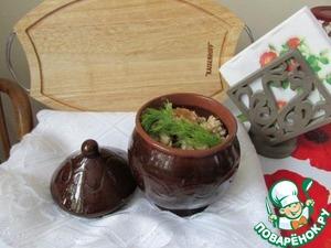 Рецепт Перловая каша с грибами в горшочке