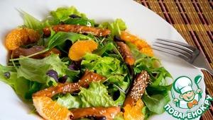 Рецепт Теплый салат с семгой