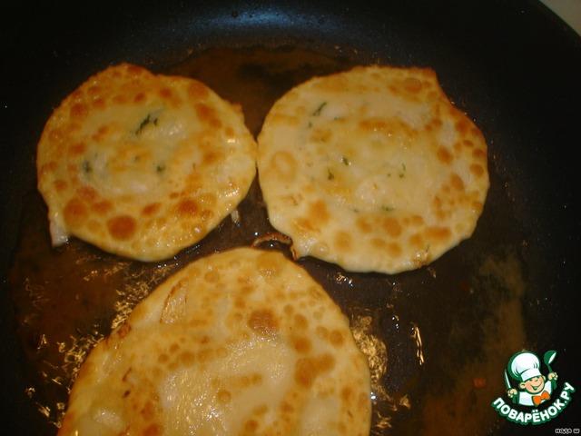 Лепешки с фаршем на сковороде рецепт