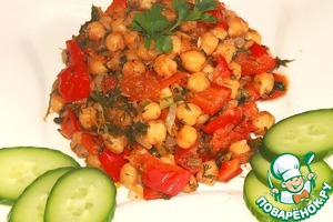 Рецепт Нут тушеный с овощами