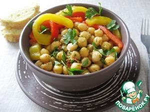 Рецепт Каталонский перечный салат с нутом и пикадой
