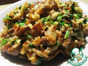 Рецепт Жареные грибы с рисом и с зеленью