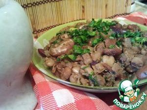 Рецепт Пестрое лобио с грецкими орехами