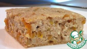 Рецепт Суфле творожное с урюком и орехами