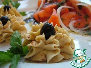 """Рецепт: Хумус с помидорами """"Бальзамик"""""""