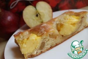 Рецепт Яблочные полоски с пудингом