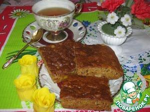 Рецепт Постный пирог с апельсинами, орехами и цукатами