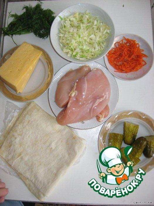Как сделать шаурму в домашних условиях пошаговый рецепт с из свинины с