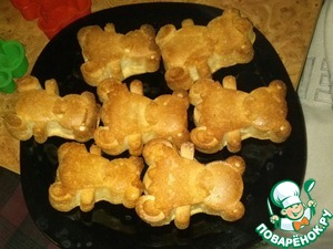 Рецепт Бисквитные мишки