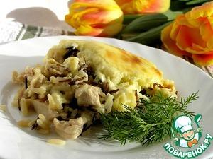 "Рецепт Курица с рисом под соусом ""Морнэ"""