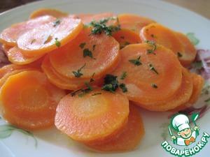 Рецепт Тушеная морковь