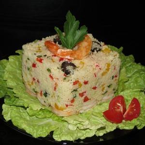 Рецепт Кускус с креветками и овощами