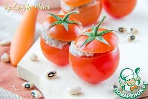 Рецепт Томаты черри, фаршированные паштетом из белой фасоли с мятой