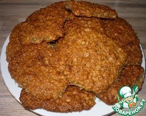Рецепт Овсяное печенье (постное)
