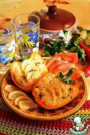 Рецепт Запеченный перец с кус-кусом, чечевицей и лимоном